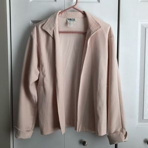 4/$25 Coldwater Creek Pink Open Front Blazer